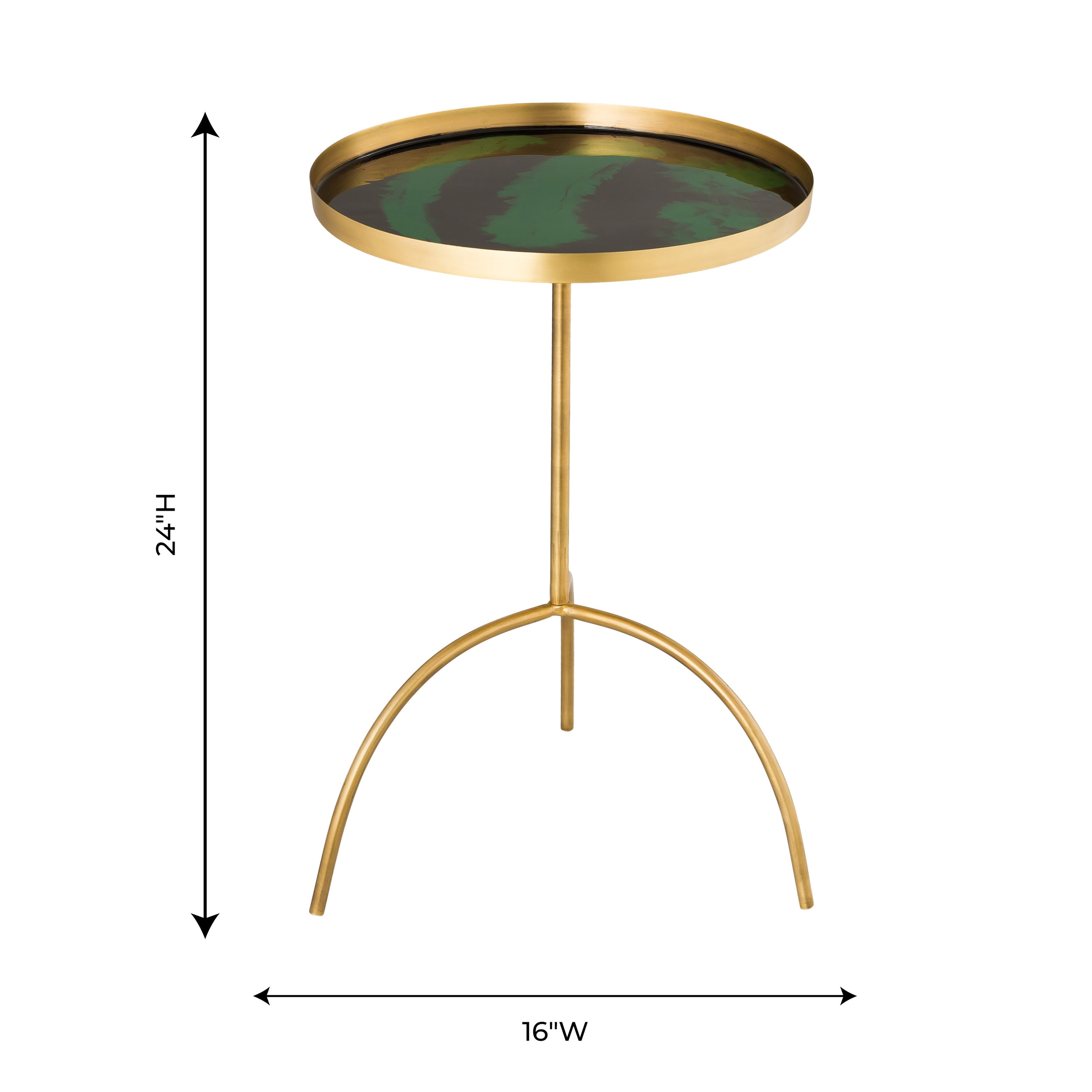- Shop Enamel Black And Green Accent Table - Overstock - 29655787