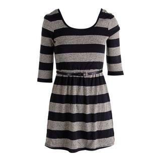Speechless Womens Juniors Metallic Striped Casual Dress - M