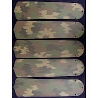 Desert Camouflage Custom Designer 52in Ceiling Fan Blades Set - Multi