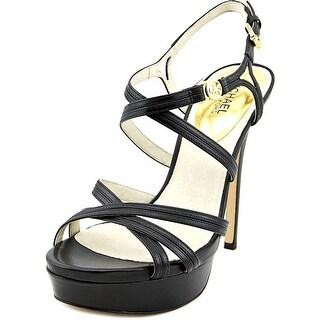 Michael Michael Kors Cicely Platform   Open Toe Leather  Platform Sandal