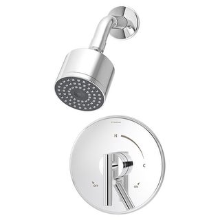 Symmons S-3501-CYL-B-1.5  Dia Shower Trim Package with Single Function Shower Head and Double Lever Handle - Polished Chrome