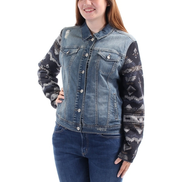 bd3a9719d3 Shop VINTAGE AMERICA BLUES $90 Womens New 1502 Blue Denim Casual Jacket XL  B+B - Free Shipping On Orders Over $45 - Overstock - 21301960