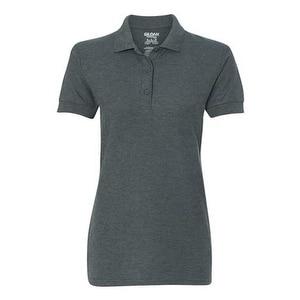 Gildan Premium Cotton Women's Double Pique Sport Shirt - Dark Heather - S