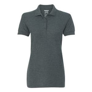 Gildan Premium Cotton Women's Double Pique Sport Shirt - Dark Heather - S