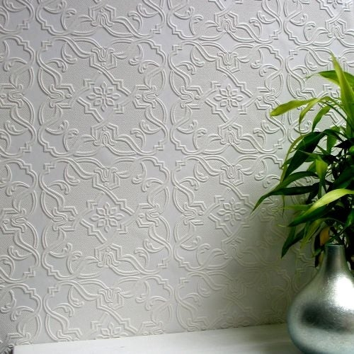 Brewster 437-RD0671 Maxwell Paintable Textured Vinyl Wallpaper