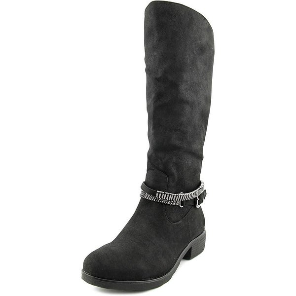 Style & Co Wardd Wide Calf Women Round Toe Synthetic Black Knee High Boot