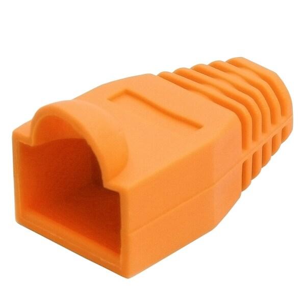 RJ45 Color Coded Strain Relief Boots 50pcs - Orange