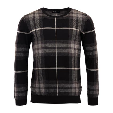 Barbour Mens Crewneck Sweater Jacquard Plaid - XL