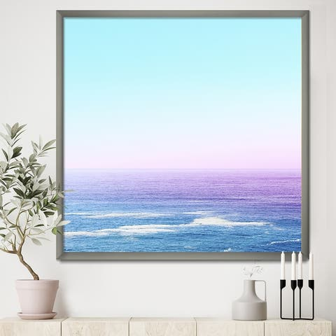 Designart 'Ocean View' Nautical & Coastal Framed Art Print
