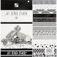 "Dcwv Single-Sided Cardstock Stack 12""X12"" 48/Pkg-Jet Black, 24 Designs/2 Each"