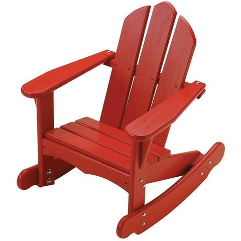 Little Colorado 141RD Childs Adirondack Rocking Chair, Red