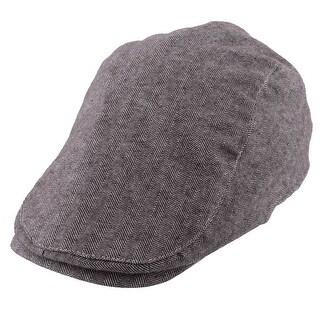 Men Women Newsboy Duckbill Ivy Cap Travel Driving Flat Beret Hat Coffee Color