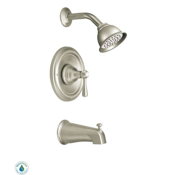 Moen T2113EP Single Handle Posi-Temp Pressure Balanced Tub and Shower Trim with Eco Performance Shower Head from the Kingsley