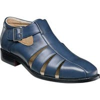 Stacy Adams Men's Calisto Fisherman Sandal 25112 Navy Synthetic