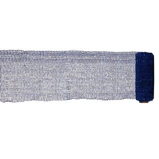 """Extra Wide Mesh Blue Sparkle Tinsel Christmas Ribbon 6"""" x 4 Yards"""
