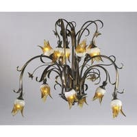 Cyan Design 6406-12-93 12 Light Down Lighting Chandelier from the Papillion Collection