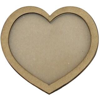 """Clear Scraps Chipboard & Acrylic Shaker Shape 3.5""""X4.5""""-Heart"""