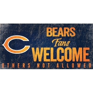 Link to Chicago Bears Wood Sign Fans Welcome 12x6 Similar Items in Fan Shop