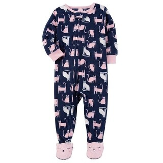 Carter's Little Girls' 1 Piece Cat Fleece Pajamas, 5-Toddler