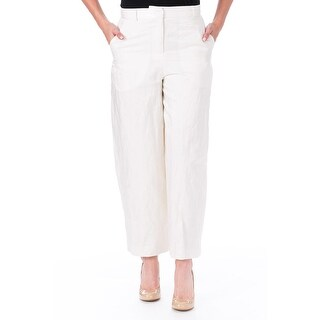 Elizabeth and James Womens Ron Sateen Rumpled Dress Pants