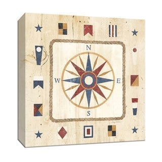 "PTM Images 9-152682  PTM Canvas Collection 12"" x 12"" - ""Compass Rose"" Giclee Nautical and Ocean Art Print on Canvas"