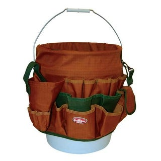 Bucket Boss 10056 Bucket Tool Organizer With 56 Pocket, Tan & Green