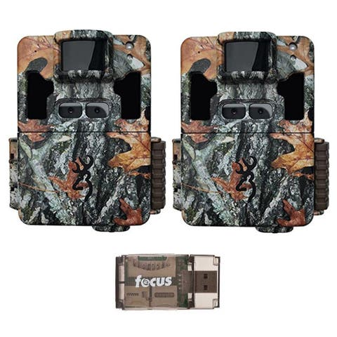 Browning Dark Ops Pro XD Dual Lens 24MP Trail Camera (2) with USB Reader - Camouflage
