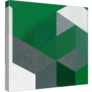 """PTM Images 9-97827  PTM Canvas Collection 12"""" x 12"""" - """"Re-Stacked A"""" Giclee Patterns and Designs Art Print on Canvas"""