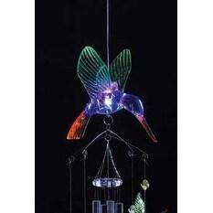 Light-Up Hummingbird Windchime - glows