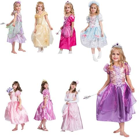 Eraspooky Kids Girls Costume Princess Fairytale Dress Up Cosplay Costume Party Outfits