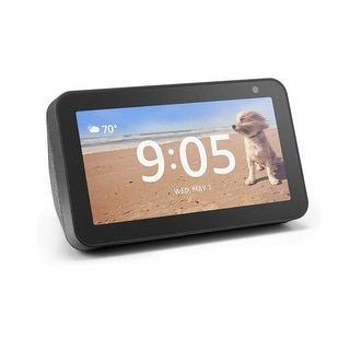 "Amazon Echo Show 5 Compact smart display with Alexa - Charcoal - 7.9"" x 5.4""x 3.9"" (Charcoal)"