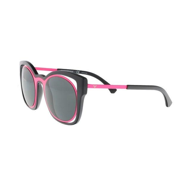 3c9a1e631e Emporio Armani EA4091 558987 Black Magenta Cat Eye Sunglasses - 50-23-140