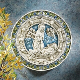 Adoration of the Child Roundel Wall Sculpture, Large DESIGN TOSCANO faith art