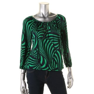 MICHAEL Michael Kors Womens Casual Top Printed 3/4 Sleeve