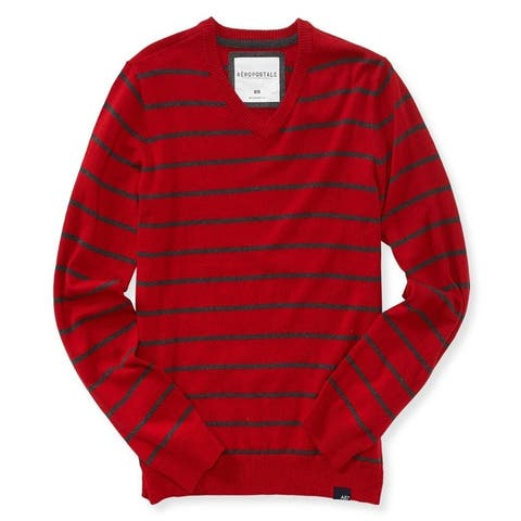 Aeropostale Mens Striped Pullover Sweater