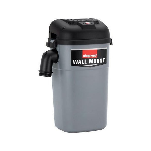 Shop-Vac 5HM400 5 gal. Corded Wall mount Wet/Dry Wall Mount Vacuum 8.8 amps 120 volt 4 hp Gray. Opens flyout.