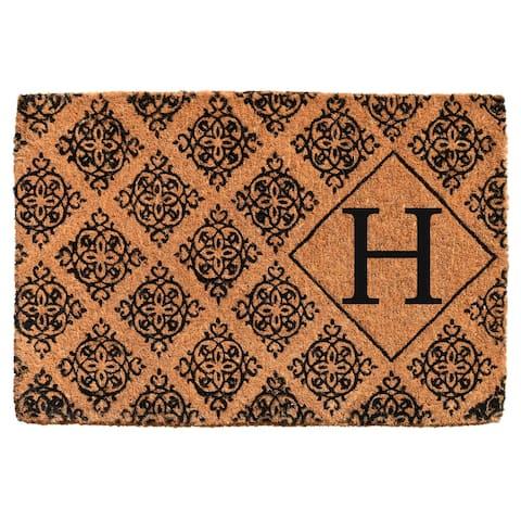 """Regency Monogram Doormat 24"""" x 36"""" x 1.5"""" (Letter H) - 24 x 36 in"""