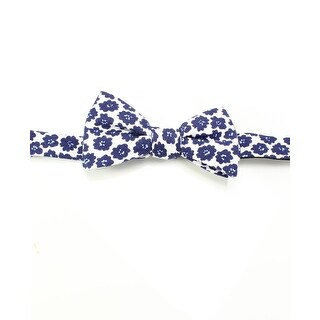 Tommy Hilfiger NEW White Blue One Size Floral Print Pre-Tied Bow Tie