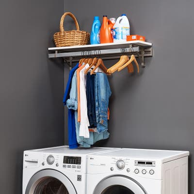 Arrange a Space LHS Finest Laundry Room Organizer System Kit