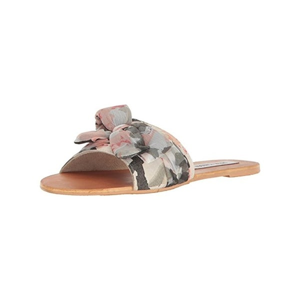 Steve Madden Womens Alex Slide Sandals Printed Bow