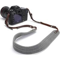 "ONA - ""The Presidio"" Camera Strap - Smoke Gray Waxed Canvas and Leather"