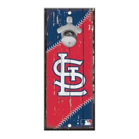 St. Louis Cardinals Sign Wood 5x11 Bottle Opener