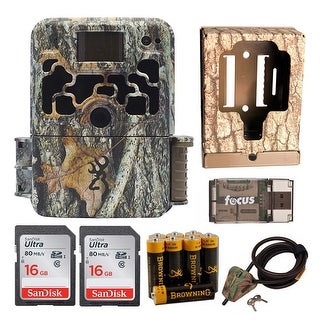 Browning Dark Ops Trail Game Camera (Camo) with Security Box and Accessory Kit - Camouflage