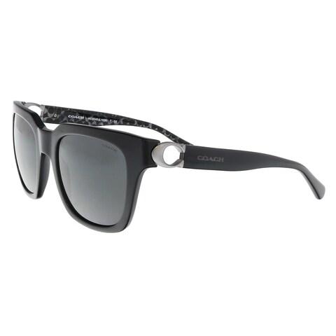 Coach HC8240 551087 Black Square Sunglasses - 52-21-140