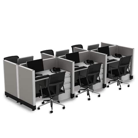 Small Office Cubicles 39H 6pack Cluster Unpowered
