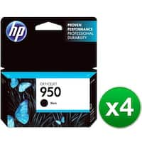 HP 950 Black Original Ink Cartridge (CN049AN)(4-Pack)