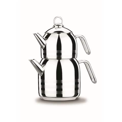 Korkmaz Astra 18/10 Stainless Steel Teapot, Induction Compatible