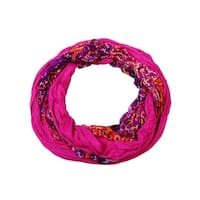 Collection Eighteen Women's Multi Pattern Infinity Scarf - Pink Fever - OS