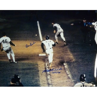 Bill Buckner & Mookie Wilson Autographed Boston Red SoxNew York Mets 16x20 photo JSA