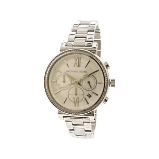 Michael Kors Women's Sofie MK6575 Silver Stainless-Steel Japanese Quartz Fashion Watch